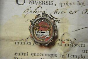 shrine relicario relic B.BERNARD ABBOT OF OFFIDA +DOC OF ISSUE 1798
