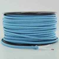 LIGHT BLUE ~ 2 WIRE Parallel ~ Antique Style Fabric Lamp Wire ~ Price Per Foot