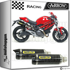 ARROW 2 EXHAUST THUNDER CARBON C RACE DUCATI MONSTER 1100 09-10