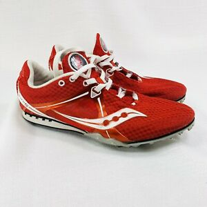 Saucony Velocity 5 Unisex Size 8 20188-1 Red Track And Field Shoes Spike Cleats