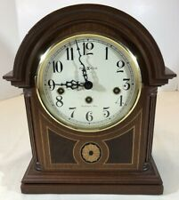 New ListingBeautiful Howard Miller Barrister Inlaid Mantle Clock 613-180 Westminster Chime