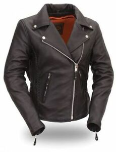 Ladies Womens Motorbike Biker Racing Leather Jacket CE Approved Armour