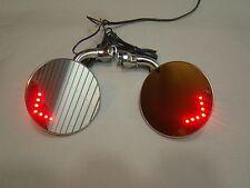 4 inch round stainless steel door mount peep mirror & LED turn signal indicator