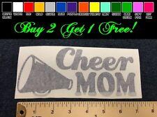 "Cheer Mom 7"" Vinyl Sticker Decal - Choose Color! bumper car window cheerleading"