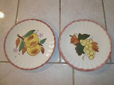 Lot of Two Blue Ridge COUNTY FAIR Colonial Salad Plates USA made