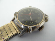 Vintage Military Sinsa de Luxe Jeweled Antimagnetic Swiss Made Wristwatch Watch