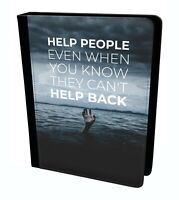 Help People Kindness Typography Creative Quote Tablet  Leather Case Cover
