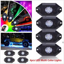 4pcs Multi Colors lamp Pod RGB LED Rock Lights Wireless Bluetooth Music Flashing