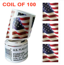 Roll of 100 Stamps USPS 2017 US Flag Forever Postage Stamps Free & Fast Shipping