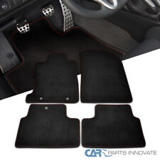 For Honda 06-10 Civic 2Dr Coupe Front & Rear Floor Mats Carpet w/ Red Stitch