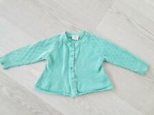 Polarn O. Pyret mint colour girls cardigan size 6-9 months