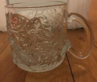 Vintage 1995 McDonald's BATMAN FOREVER GLASS MUG / CUP The Riddler CLEAR 3""