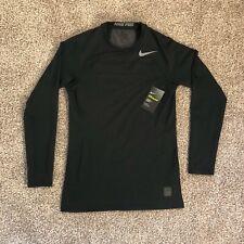 Nike Pro HyperWarm Fitted Long Sleeve Training Shirt Men's Black Size Small Nwt