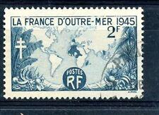 STAMP / TIMBRE DE FRANCE OBLITERE SERIE N° 741 LA FRANCE D'OUTREMER