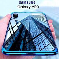 COVER per Samsung Galaxy M20 CUSTODIA ELECTROPLATING + PELLICOLA VETRO TEMPERATO