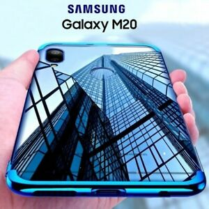 Cover for Samsung Galaxy M20 Case Electroplating+Film Tempered Glass