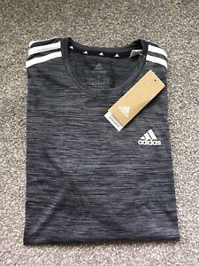 Adidas Gray Mens Primegreen Aero Ready Shirt (S)