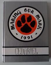 1991 Cedarburg WI High School Yearbook Annual Wisconsin Cedariel CHS