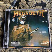 MEGADETH cd SO FAR, SO GOOD .. SO WHAT?  Remastered Remixed + bonus tracks