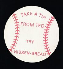 1960's Try a Tip From Ted Williams Try Nissen Bread Jar Opener Red Sox