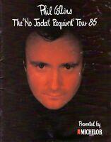 PHIL COLLINS 1985 NO JACKET REQUIRED TOUR CONCERT PROGRAM BOOK-GENESIS-VG 2 NMT