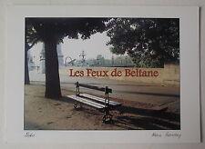 Carte postale Banc public ,pont Alexandre III,Alain Baudry CPSM