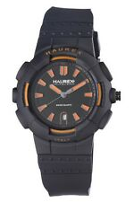 NEW Haurex Italy Mens 2P504UYN Tremor Black Rubber Strap Date Watch