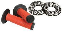 51-1261 Scott SXII MX Motorcycle 7/8 Handle Bar Twist Throttle Grips Black & Red