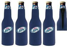 Miller Lite 4 Bottle Wrap Coozie Coolie Koozie New