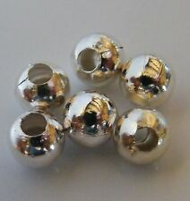 150pcs 6mm Round Metal Iron Spacer Beads - Bright Silver