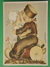 ALASIA vecchia cartolina innamorati bambini