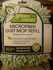 (1) Quickie 40764 Microfiber Dust Mop Refill Green Clean heads MAID cleaning