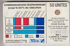 VARIETE TELECARTE CORDON BLANC .. 50U Ko58 SC4OB V° STYLET DEFORME 11872 C.?€
