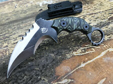 THE ONE Claw Karambit stone wash D2  Blade G10 Handle camping Outdoor knife TH01