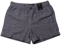 New Womens Marks & Spencer Blue & White Linen Shorts Size 20 18 16 14 10