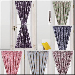 """NEW Designs Blackout Window Curtain French Door Panel 55""""X72"""" ASSORTED 1PC"""