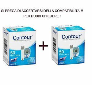 100 Contour strisce reattive diabete test glucosio scadenza: 30-06-2022