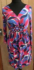 Boden Jersey Dress Beaded Embellishment Size 12 Smart Office Work Party Wedding