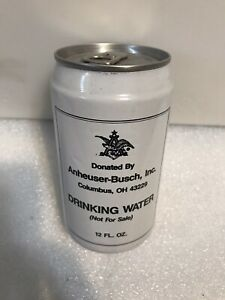 ANHEUSER BUSCH EMERGENCY DRINKING WATER 12 OZ.  ALUMINUM CAN. FULL