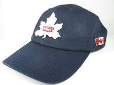 Victoria Canada Maple Leaf Blue Baseball Cap/Hat