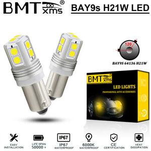 BMTxms BAY9s H21W 64136 LED Bulbs Reverse Corner Light 10SMD White Error Free