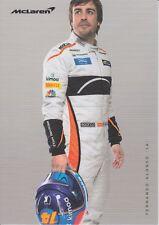 Fernando Alonso no firmados Promo Card 2018 McLaren de la fórmula 1.