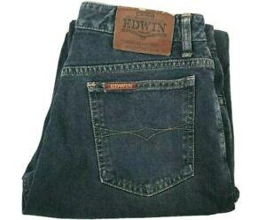 EDWIN Mens Jeans Size W30 London Slim 9601 High Quality Denim