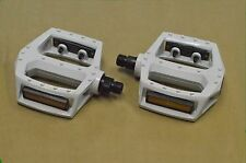 "NEW WHITE 1/2"" Axle Plat Form Pedal for Track Fixie BMX MTB Bike Bicycle"