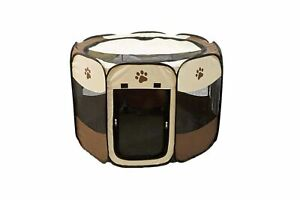 Etna Portable Foldable Pet Playpen For Dogs, Paw Print - Indoor and Outdoor U...