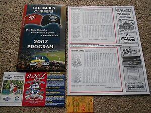 2007 Columbus Clippers Baseball Program Chris Booker Winston Abreu Insert Cards