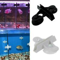 1-10x Aquarium Plastic Divider Sheet Clip Clamp Support Glass Holder Cup W0T8