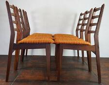 60er 6x Vintage Chairs Danish Retro Dining Room Walnut Armchair mid-Century