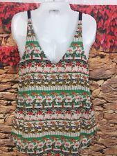 7ee6561d52dc6 TOPSHOP Womens Flamingo Tropical Bird Print Sleeveless Tank Top V-Neck Size  2