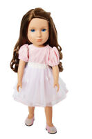 Pink Easter Dress for Wellie Wisher Dolls